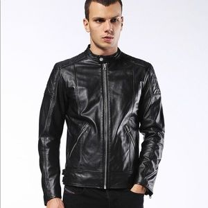 Diesel L Martin lambskin leather motorcycle jacket